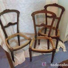 Antigüedades: SILLAS DE CAOBA. Lote 141694470