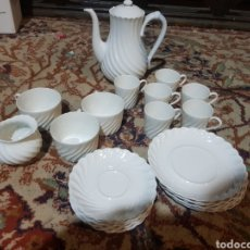 Antigüedades: JUEGO DE TÉ O CAFÉ EN PORCELANA DE LIMOGES FRANCIA HAVILLAND. Lote 141703285