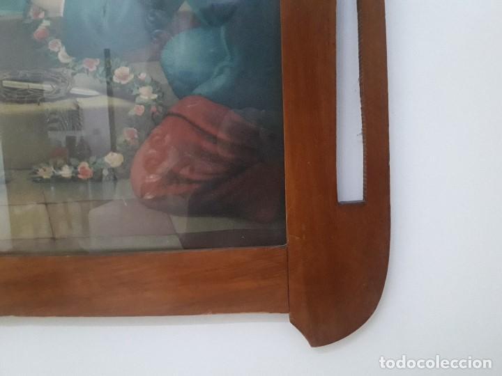 Antigüedades: MARCO , CUADRO MODERNISTA CON LAMINA RELIGIOSA - Foto 4 - 141706174