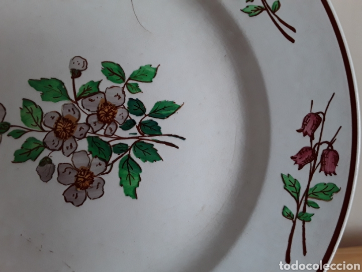 Antigüedades: Plato cerámica francesa Sarreguemines - Foto 3 - 141712281