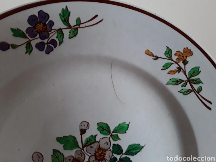 Antigüedades: Plato cerámica francesa Sarreguemines - Foto 4 - 141712281