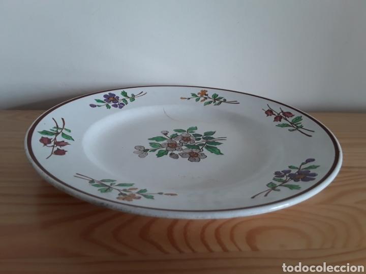 Antigüedades: Plato cerámica francesa Sarreguemines - Foto 12 - 141712281