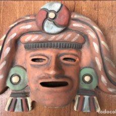 Antigüedades: DIOS AZTECA EN TERRACOTA COCIDA.... Lote 141713901