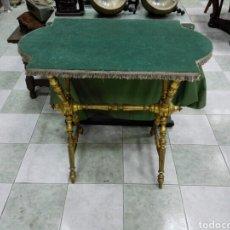 Antigüedades: MESA O CONSOLA DORADA.. Lote 141719180