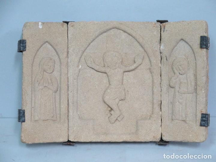 BONITO CALVARIO SIGUIENDO MODELOS ROMANICOS (Antigüedades - Religiosas - Varios)