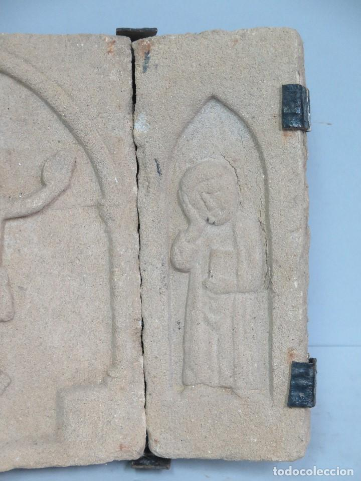 Antigüedades: BONITO CALVARIO SIGUIENDO MODELOS ROMANICOS - Foto 3 - 141720186
