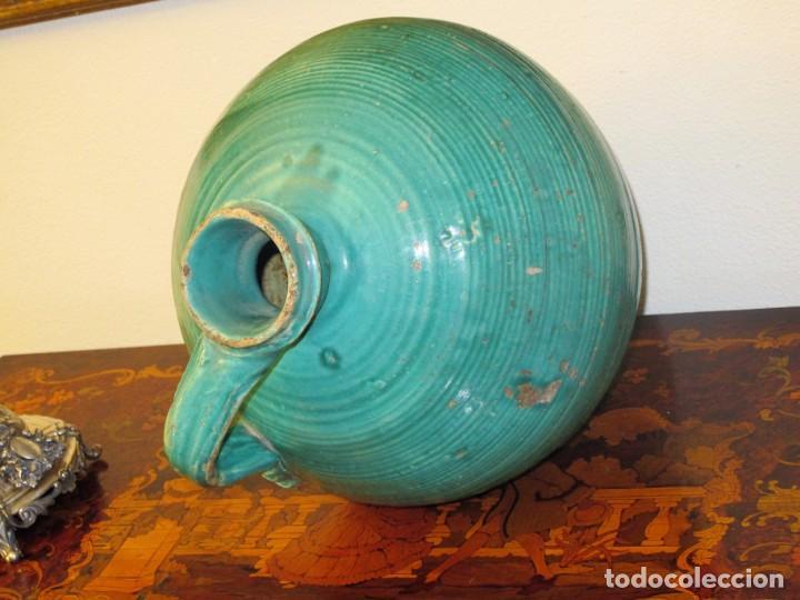 Antigüedades: PERULA SEVILLANA, VIDRIADA EN COLOR VERDE AZULADO. FINALES SIGLO XVIII PRINCIPIOS DEL XIX. - Foto 6 - 141720914