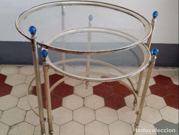 Antigüedades: Tres (3) antiguas mesas / mesitas nido - Foto 9 - 141724526