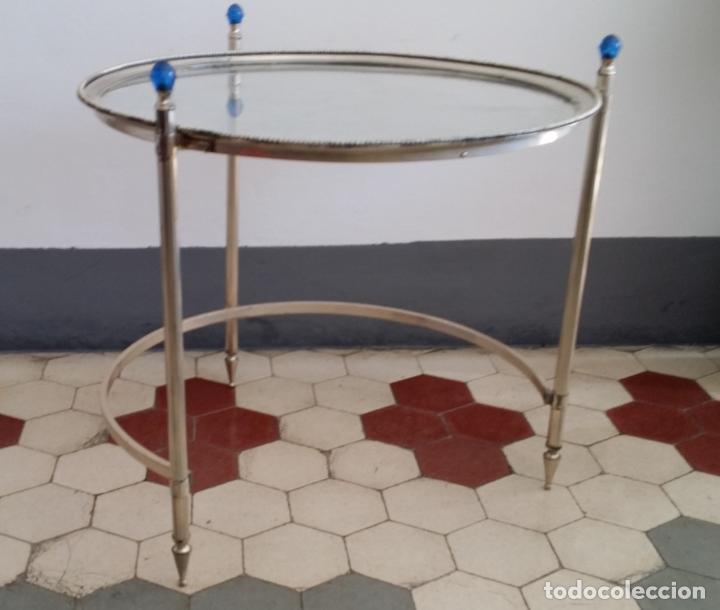 Antigüedades: Tres (3) antiguas mesas / mesitas nido - Foto 11 - 141724526