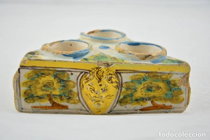 Antigüedades: ESPECIERO TRIANGULAR SIGLO XVII TALAVERA - Foto 2 - 141732406