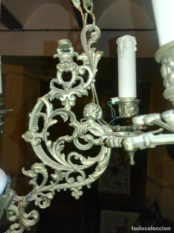 Antigüedades: lampara antigua y original kosmos electrificada - Foto 5 - 141769038