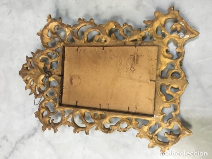 Antigüedades: (M) Antiguo Marco cornocopia de talla y dorada con pan de oro . S. XIX original no reproducción Buen - Foto 7 - 141785066