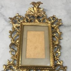 Antigüedades: (M) ANTIGUO MARCO CORNOCOPIA DE TALLA Y DORADA CON PAN DE ORO . S. XIX ORIGINAL NO REPRODUCCIÓN BUEN. Lote 141785066