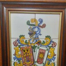 Antigüedades: CUADRO HERALDICO CERÁMICA TALAVERA. Lote 141788580