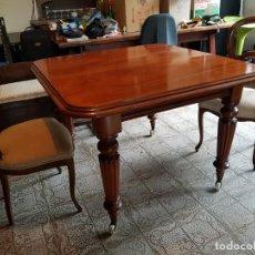Antigüedades: MESA CAOBA RUBIA INGLESA. Lote 141796610