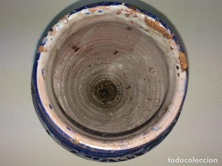 Antigüedades: PEQUEÑO JARRÓN. CERÁMICA ESMALTADA EN AZUL. MANISES. ESPAÑA. XIX-XX - Foto 5 - 141801042