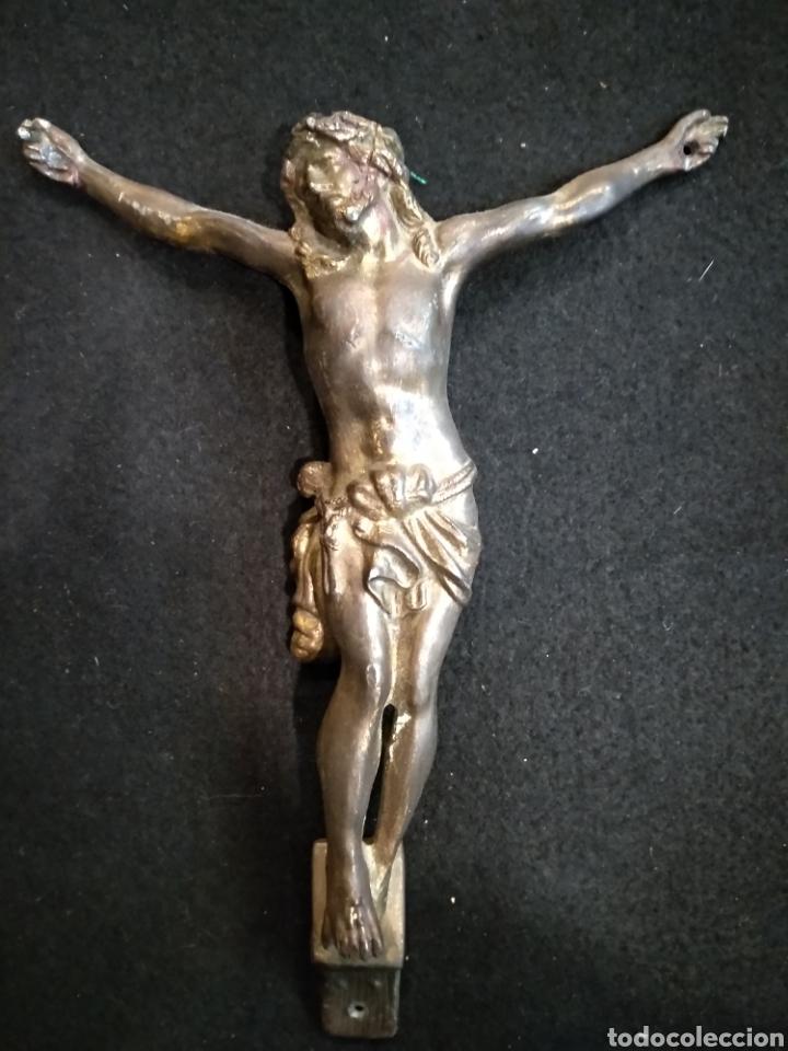 CRISTO DE LATÓN. 20 CM X 16CM (Antigüedades - Religiosas - Crucifijos Antiguos)