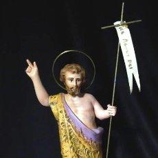 Antigüedades: MIDE 26 CMTS. OLOT.- SAN JUAN .CORDERO DE DIOS.AGNUS DEI,. Lote 141809634