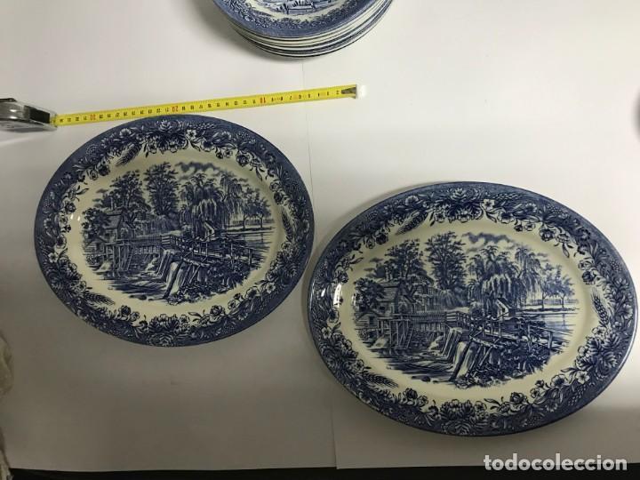 Antigüedades: Vajilla de porcelana inglesa Churchill para 8 personas ( 43 piezas ) - Foto 5 - 141814662
