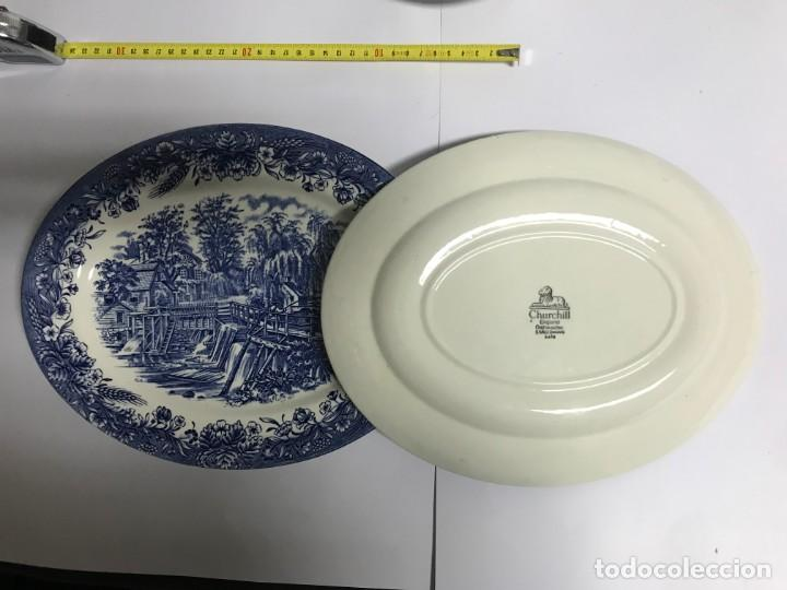Antigüedades: Vajilla de porcelana inglesa Churchill para 8 personas ( 43 piezas ) - Foto 6 - 141814662