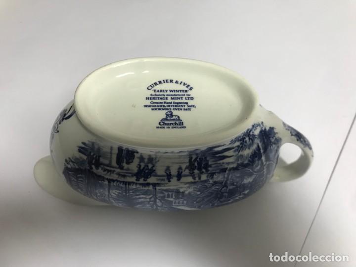 Antigüedades: Vajilla de porcelana inglesa Churchill para 8 personas ( 43 piezas ) - Foto 10 - 141814662