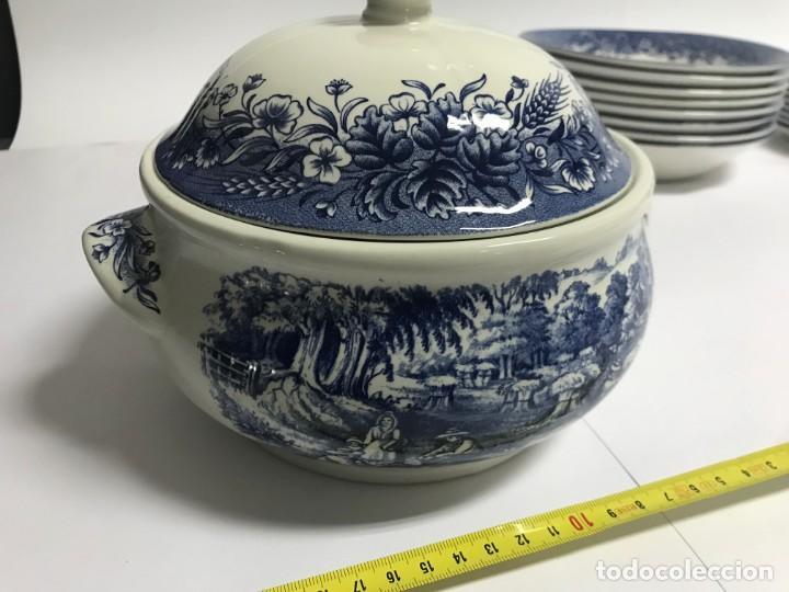 Antigüedades: Vajilla de porcelana inglesa Churchill para 8 personas ( 43 piezas ) - Foto 14 - 141814662