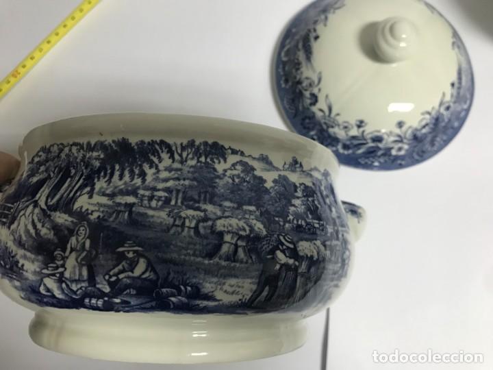 Antigüedades: Vajilla de porcelana inglesa Churchill para 8 personas ( 43 piezas ) - Foto 17 - 141814662