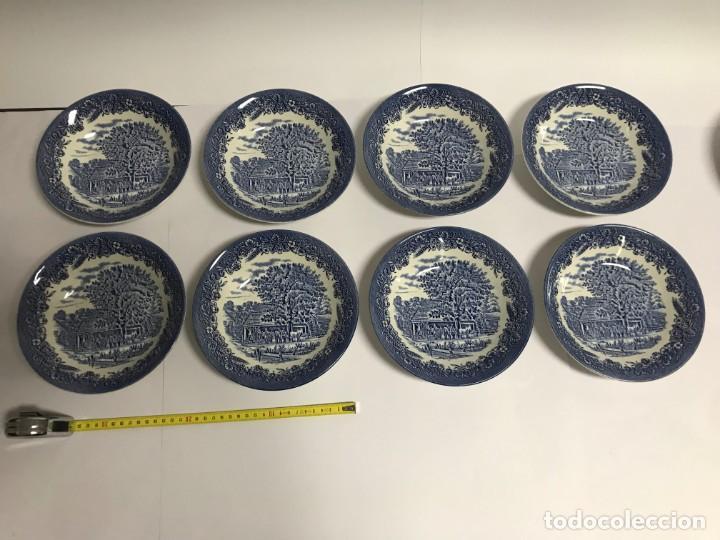Antigüedades: Vajilla de porcelana inglesa Churchill para 8 personas ( 43 piezas ) - Foto 18 - 141814662