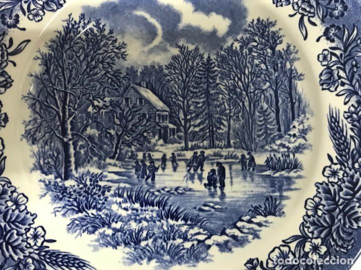 Antigüedades: Vajilla de porcelana inglesa Churchill para 8 personas ( 43 piezas ) - Foto 23 - 141814662