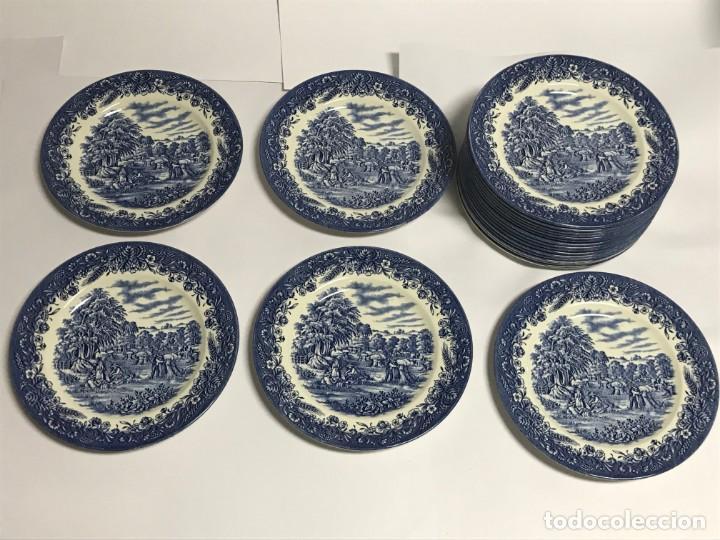 Antigüedades: Vajilla de porcelana inglesa Churchill para 8 personas ( 43 piezas ) - Foto 24 - 141814662