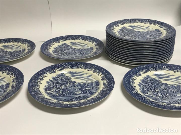 Antigüedades: Vajilla de porcelana inglesa Churchill para 8 personas ( 43 piezas ) - Foto 25 - 141814662