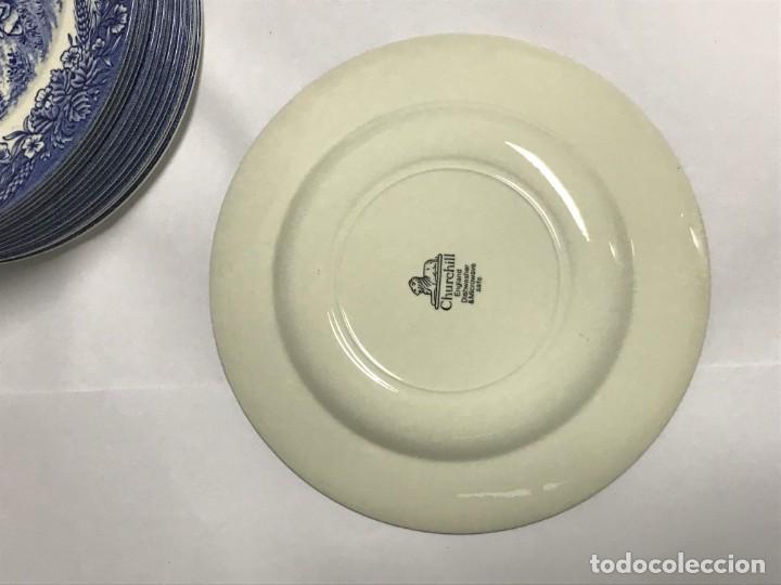 Antigüedades: Vajilla de porcelana inglesa Churchill para 8 personas ( 43 piezas ) - Foto 27 - 141814662