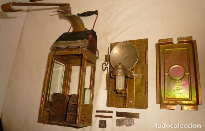 LINTERNA ALEMANA DE VELA DEUTSCHES REICHSPATENT (Antigüedades - Iluminación - Faroles Antiguos)
