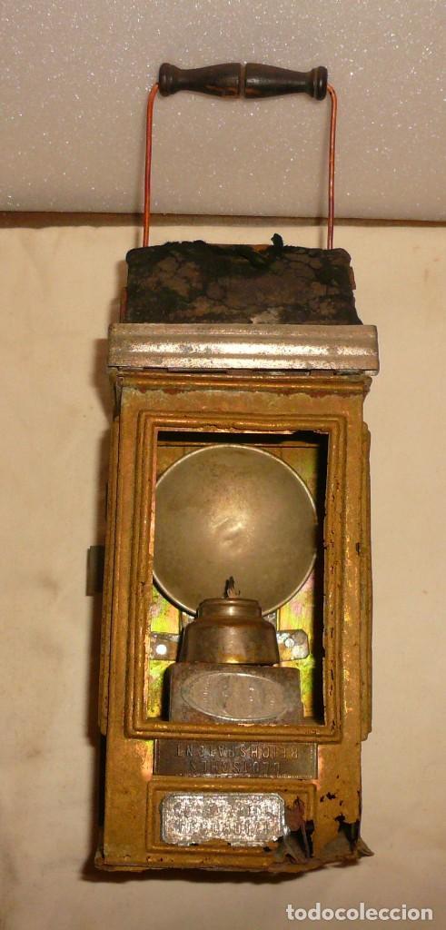 Antigüedades: LINTERNA ALEMANA DE VELA DEUTSCHES REICHSPATENT - Foto 2 - 141838542
