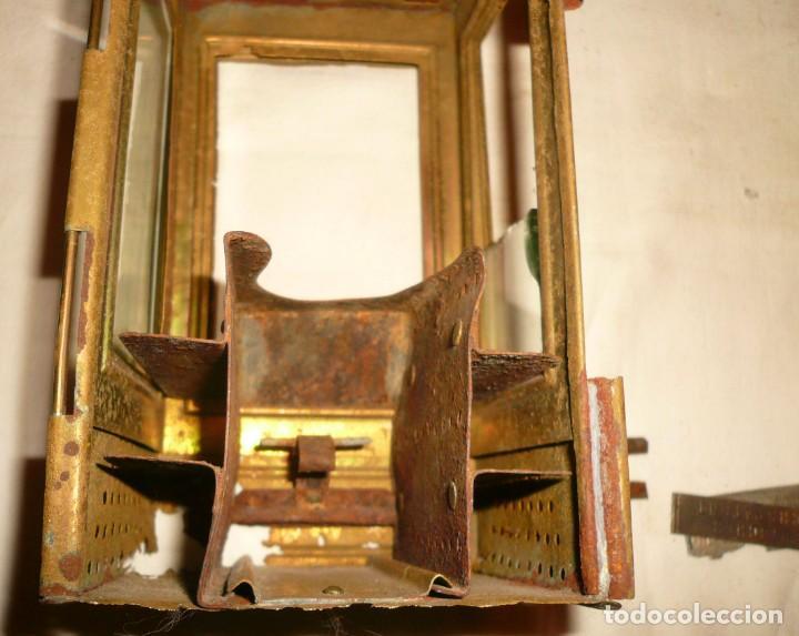 Antigüedades: LINTERNA ALEMANA DE VELA DEUTSCHES REICHSPATENT - Foto 4 - 141838542