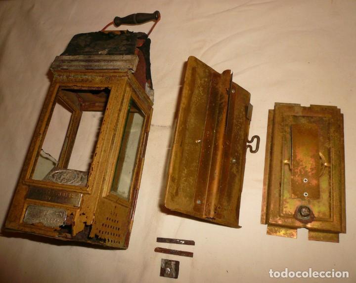 Antigüedades: LINTERNA ALEMANA DE VELA DEUTSCHES REICHSPATENT - Foto 5 - 141838542