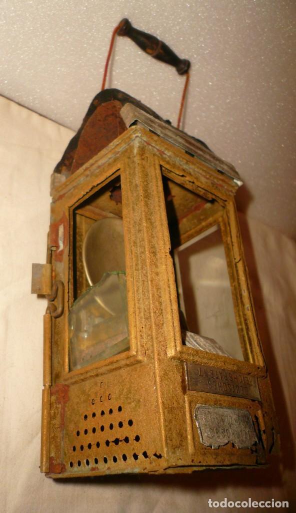 Antigüedades: LINTERNA ALEMANA DE VELA DEUTSCHES REICHSPATENT - Foto 7 - 141838542