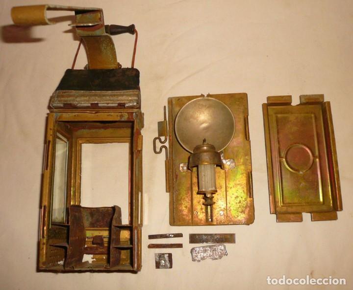 Antigüedades: LINTERNA ALEMANA DE VELA DEUTSCHES REICHSPATENT - Foto 8 - 141838542