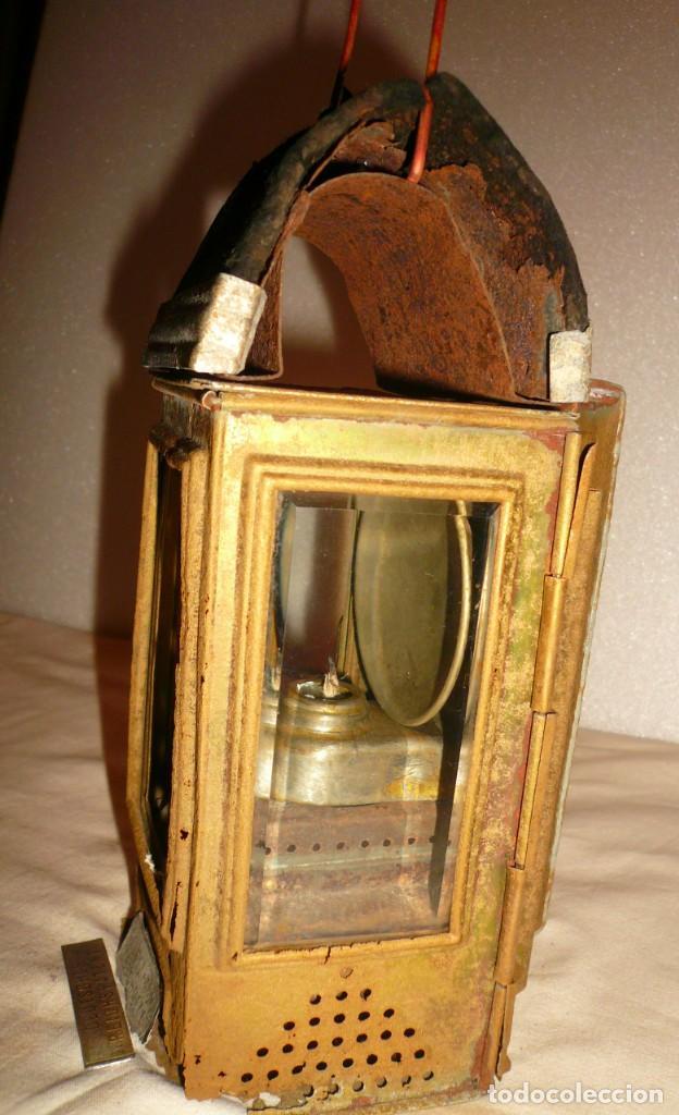 Antigüedades: LINTERNA ALEMANA DE VELA DEUTSCHES REICHSPATENT - Foto 9 - 141838542