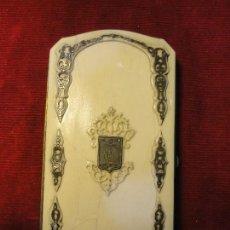 Antigüedades: TARGETERO MARFIL Y PLATA (CERTIFICADO GAC). Lote 141855934