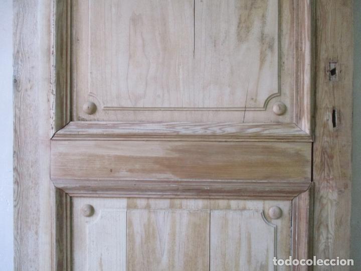 Antigüedades: Puerta Antigua - Madera de Pino y Haya - 2 Caras - Puerta Entrada, Habitación - S. XIX - Foto 4 - 141865698