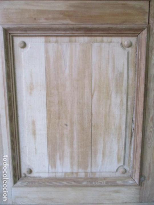 Antigüedades: Puerta Antigua - Madera de Pino y Haya - 2 Caras - Puerta Entrada, Habitación - S. XIX - Foto 6 - 141865698