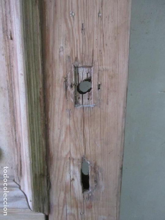 Antigüedades: Puerta Antigua - Madera de Pino y Haya - 2 Caras - Puerta Entrada, Habitación - S. XIX - Foto 9 - 141865698