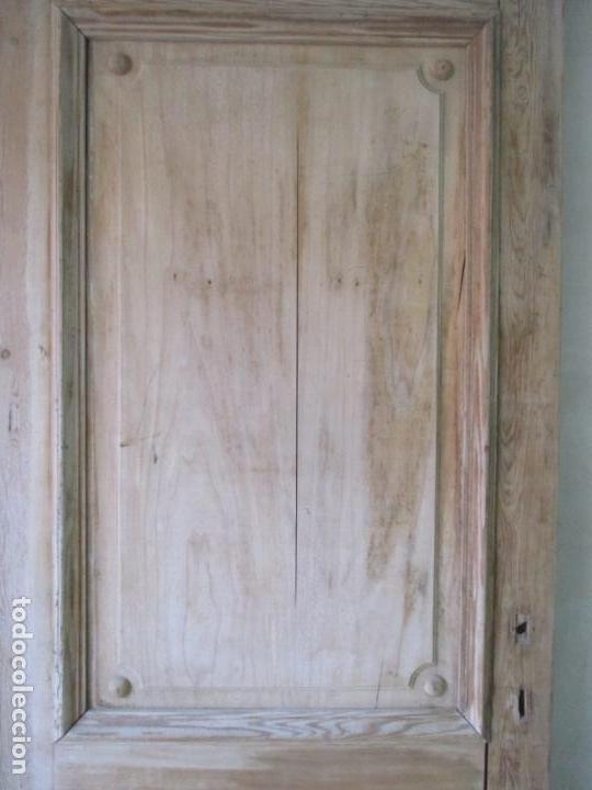 Antigüedades: Puerta Antigua - Madera de Pino y Haya - 2 Caras - Puerta Entrada, Habitación - S. XIX - Foto 10 - 141865698