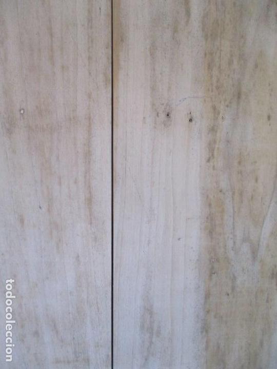 Antigüedades: Puerta Antigua - Madera de Pino y Haya - 2 Caras - Puerta Entrada, Habitación - S. XIX - Foto 11 - 141865698