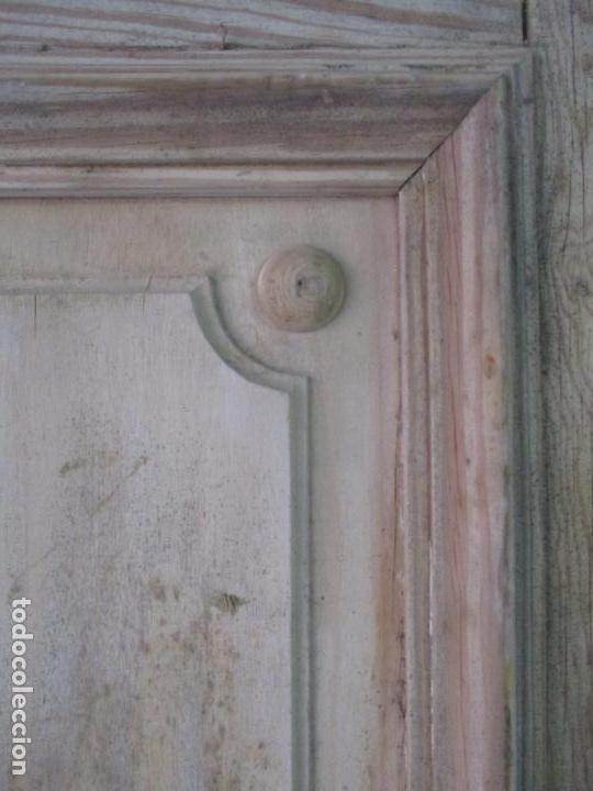 Antigüedades: Puerta Antigua - Madera de Pino y Haya - 2 Caras - Puerta Entrada, Habitación - S. XIX - Foto 12 - 141865698