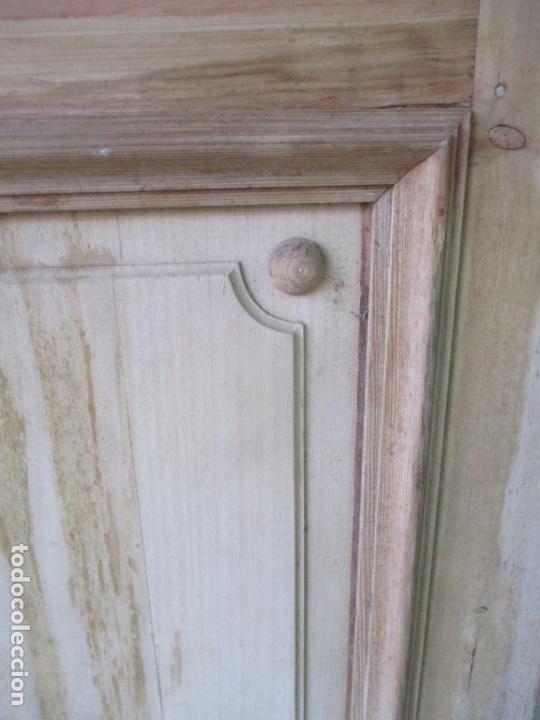 Antigüedades: Puerta Antigua - Madera de Pino y Haya - 2 Caras - Puerta Entrada, Habitación - S. XIX - Foto 17 - 141865698