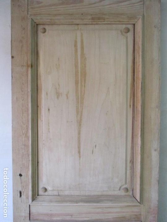 Antigüedades: Puerta Antigua - Madera de Pino y Haya - 2 Caras - Puerta Entrada, Habitación - S. XIX - Foto 18 - 141865698