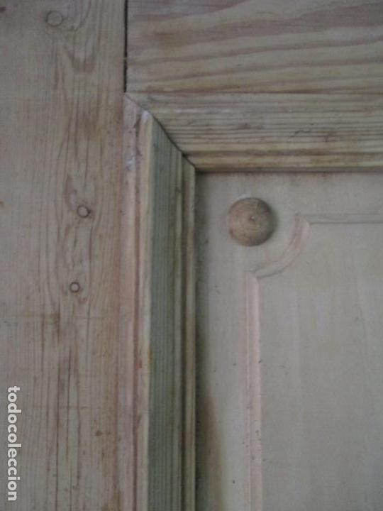 Antigüedades: Puerta Antigua - Madera de Pino y Haya - 2 Caras - Puerta Entrada, Habitación - S. XIX - Foto 19 - 141865698