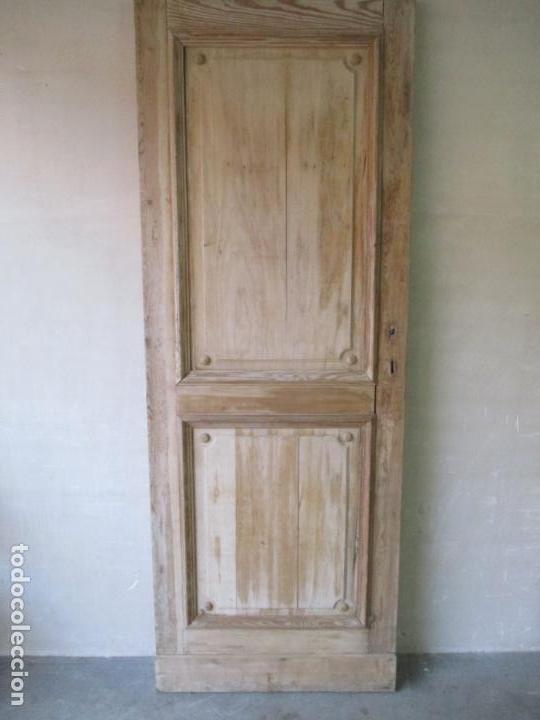 Antigüedades: Puerta Antigua - Madera de Pino y Haya - 2 Caras - Puerta Entrada, Habitación - S. XIX - Foto 22 - 141865698